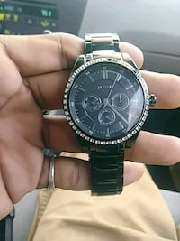 round black fossil chronograph watch with li Chattanooga, 37416