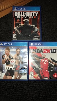 Three assorted PS4 games Winnipeg, R2X 1K9