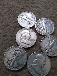 four silver and silver coins Silver Spring, 20912