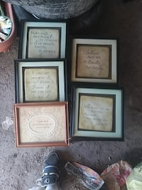 5 framed inspirational sayings Johnstown, 15904