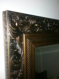 brown wooden framed wall mirror Windsor, 06095