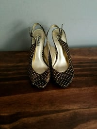 Candies Brown and White Polka Dot Shoes 6.5 Overland Park, 66212
