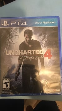 Uncharted 4 A Thiefs End 4 PS4 game disc case Chantilly, 20151