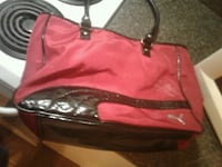 women's red leather tote bag Surrey