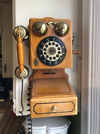 Vintage push button phone.