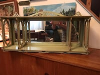 Vintage ,original mirror shelf, hangs!! Toronto, M4L 2S1