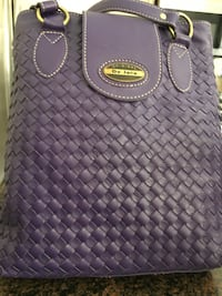 Purple De Java leather two way tote bag Mississauga, L5N 7A1