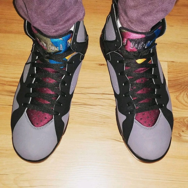 91e029c1c9b687 Used Used Air Jordan 7 Bordeaux Size 12(Grey and black) for sale in ...