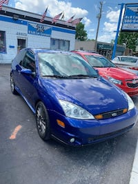 2004 BLUE FORD FOCUS ZX3 SVT GAS SAVER 2 DOOR STICK SHIFT MOONROOF LEATHER SMOOTH