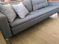 Gray fabric sofa bed with pillow top last one on display / floor model
