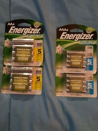 Brand new packs of rechargeable batteries  Surrey, V4A 1G6
