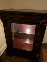 brown wooden cabinet with mirror New Cordell, 73632