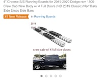 Truck Running Board for Dodge Ram. Brand new. Still in the box Omaha, 68116