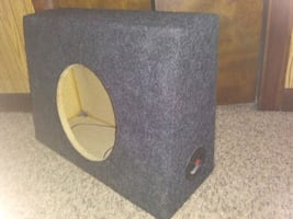 """(2) 10"""" sealed subwoofer boxes  shallow for truck fit"""