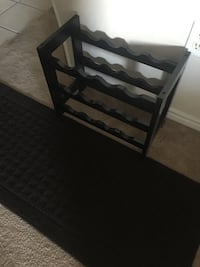 brown wooden wine rack