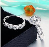 Brand new 925 silver engagement ring set (size 5) Montebello, 90640