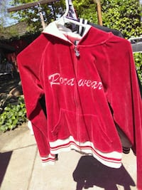 red and white Adidas zip-up jacket
