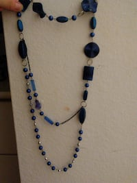 blue and black beaded necklace BREA