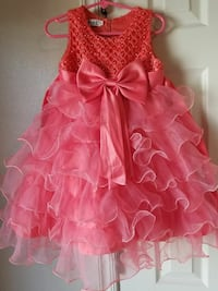 toddler girl's red and pink scoop neck sleeveless dress Midwest City, 73130
