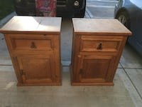 Pair of all wood end tables night stands Woodridge, 60517