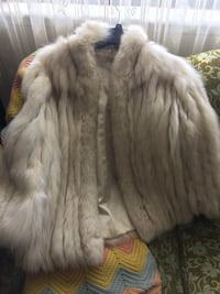 Vintage fur coat ( white )