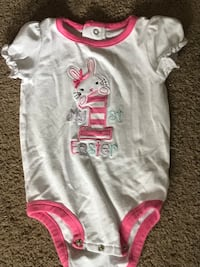 baby's white and pink onesie Eastvale, 92880