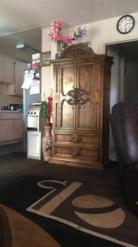 brown wooden cabinet with mirror Los Angeles, 91325