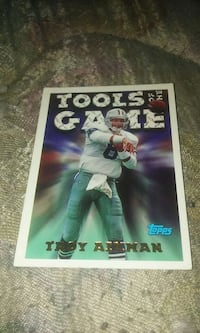 Topps Tools of the Game Troy Aimman trading card Beaver Dam, 53916