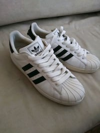 Shoes 11 and a half white and black Adidas tennis shoes men's