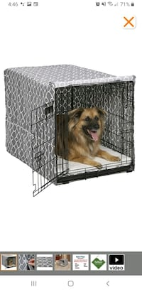 Midwest 36in single door dog crate and gray cover