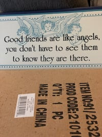Hanging wood plaques..2 are available, both new, one boxed, one not boxed Watertown, 06795