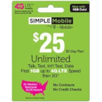 simple mobile 25 dollar card York