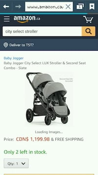 baby's black and gray stroller screenshot