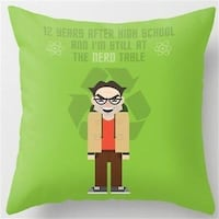 BIG BANG THEORY- LEONARD HOFSTADTER DECORATIVE PILLOW COVER- **PILLOW COVER ONLY!!!** Sarnia, N7T 7P5