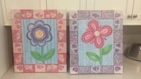Kids / girls 24X20 canvas paintings