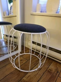 White and Grey Stool