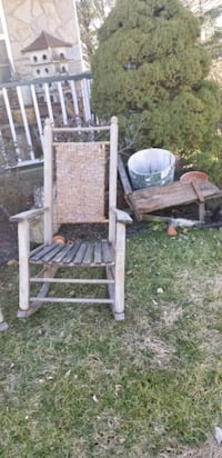 pair of rustic rockers excellent condition