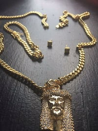 14k gold baby cuban set  Utica