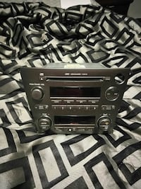 black OEM car stereo 4 CD changer