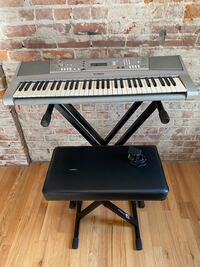 Yamaha Keyboard with Stand and Padded Seat