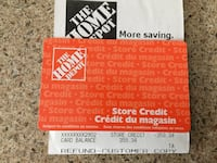 $359.34 Home Depot In Store Credit Card Winnipeg, R2M 3B4