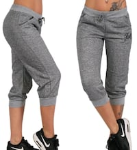 New heather grey capris joggers elastic waist Montreal, H8T