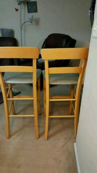 two brown wooden ladder back chairs Morris, 60450