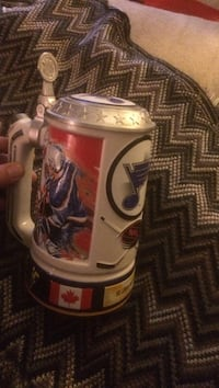 White and red saint louis blues beer stein Edmonton, T5T 1R7