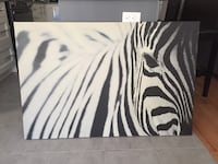 Canvas zebra painting  Whitby, L1R