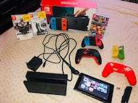 NINTENDO SWITCH- with controllers,games and accessories