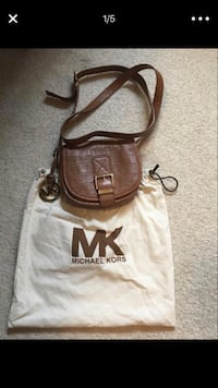 Michael Kors Women's brown leather sling bag Sterling