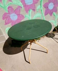 patio steel table