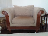 2 Oversized, Overstuffed Arm Chairs with Real Wood Fluted Detail North Richland Hills