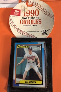 Factory sealed 30 card orioles 1990 topps team set ,ripken shilling RC